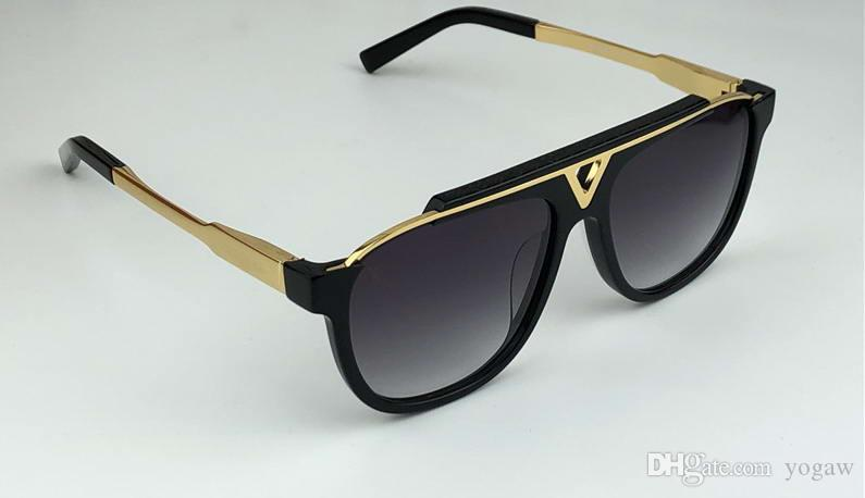 Homens mascote Sunglassess clássico ao ar livre óculos de sol Piloto Do Vintage Óculos de Sol uv400 proteção eyewear Novo com caixa