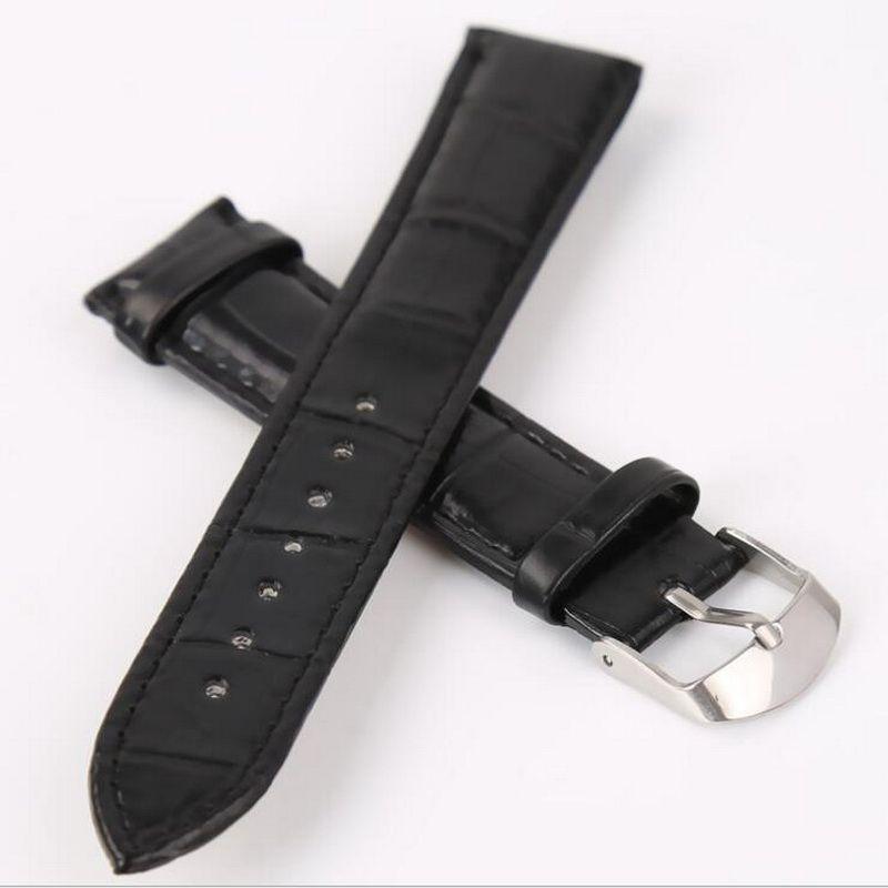 neway Leather Watch Band Wrist Strap 16mm 18mm 20mm 22mm 24mm 316L Steel Buckle Replacement Bracelet Belt Black Brown