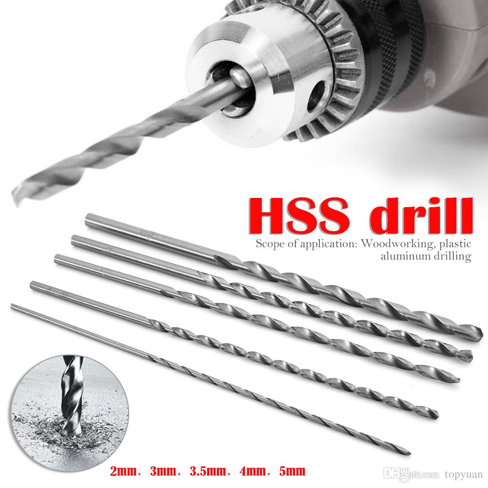 Size : 5mm Drill Bits Twist Drill Bits Long HSS Auger Twist Drill 4mm to 10mm Diameter Extra Bit Straigth Shank 200mm Drill Tool LLLNHQ