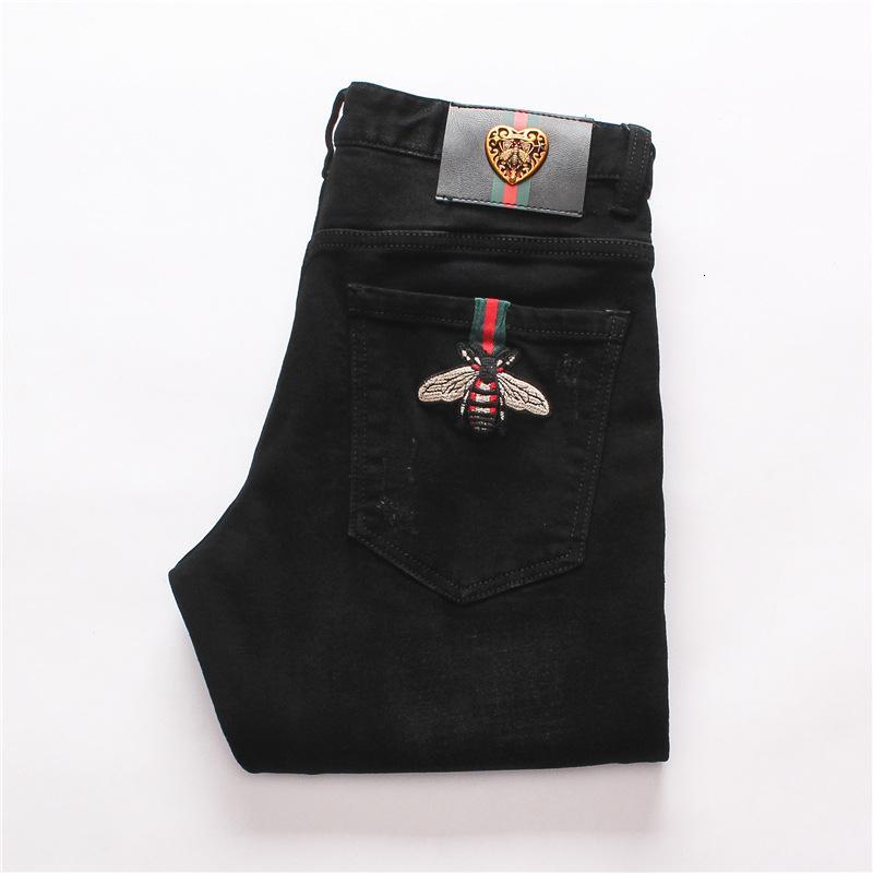 Erkek Giyim Özgün Tasarım Erkekler Moda Jeans Düz Pantolon Slim Ve Rahat Elastik Stil Jeans Bvc410 tercih