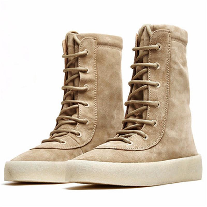 Genunie кожа коровы замши ручной Slim Fit замша мужчин Boots Клин Euro High Top Англия Wyatt причинная Trend Boots 10 # 15 / 20D50