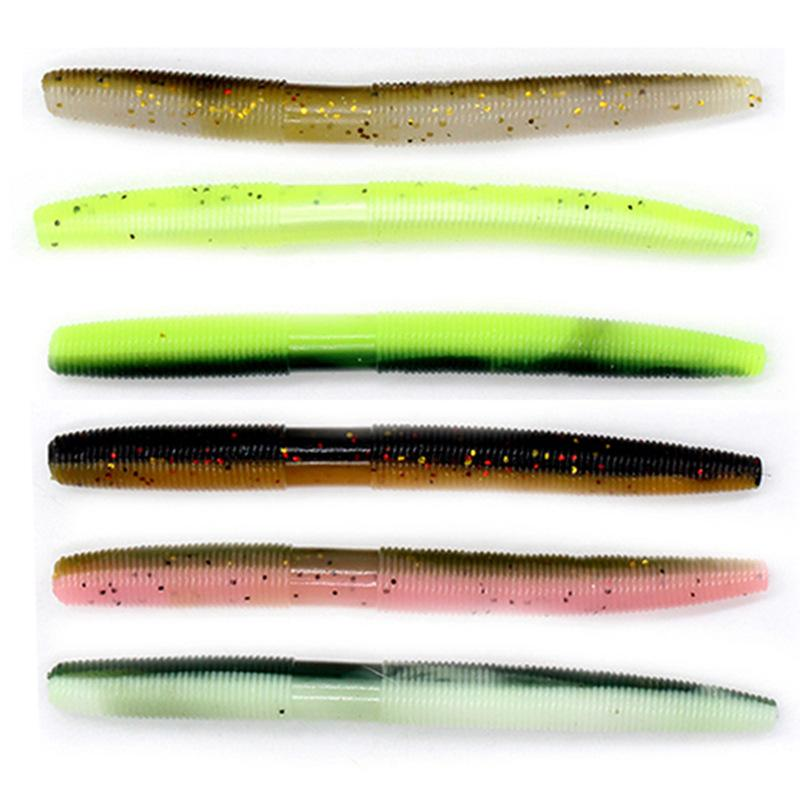 heap Fishing Lures 8pcs/lot Fishing Soft Lure Senko Worm Artificial Bait Silicone Plastic SwimBait Neko Rig Wacky Crankbait Trick Worms N...