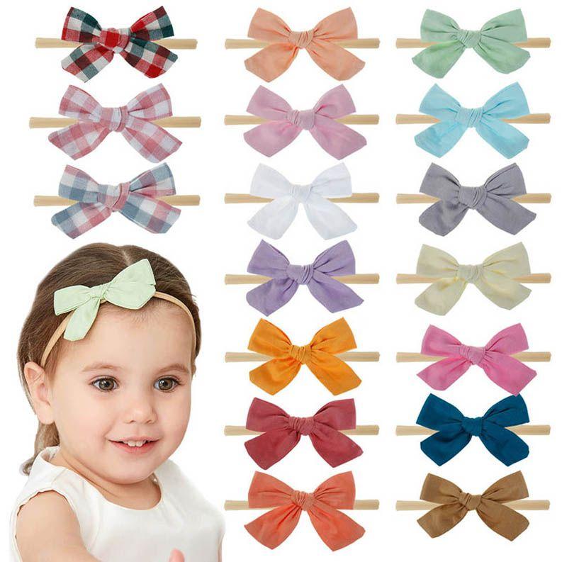 Ins 32color arcs floraux bandeaux bébé filles doux bandeau serre-tête bébé nouveau-né concepteur filles concepteur filles accessoires B559
