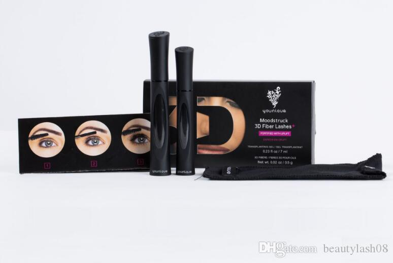 2020 Hot Sale 1030 3D FIBER LASHES Plus MASCARA Set Makeup lash eyelash double mascara Long Lasting Free shipping