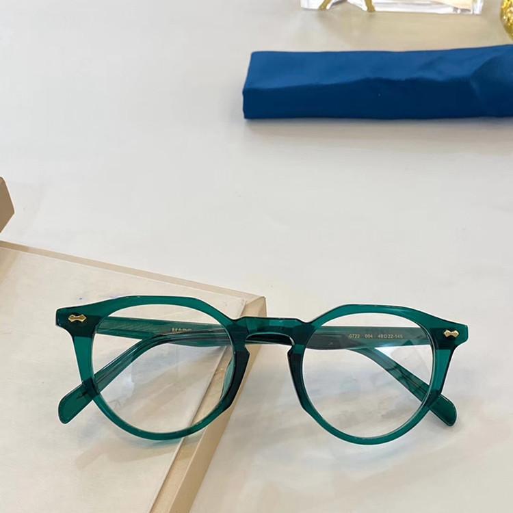 Dernier design 0722 Cadre de lunettes Vintage Muti-Shape Unisexe 49-22-145 Pure-Plank Prescription Case Full-Set Oem OULET