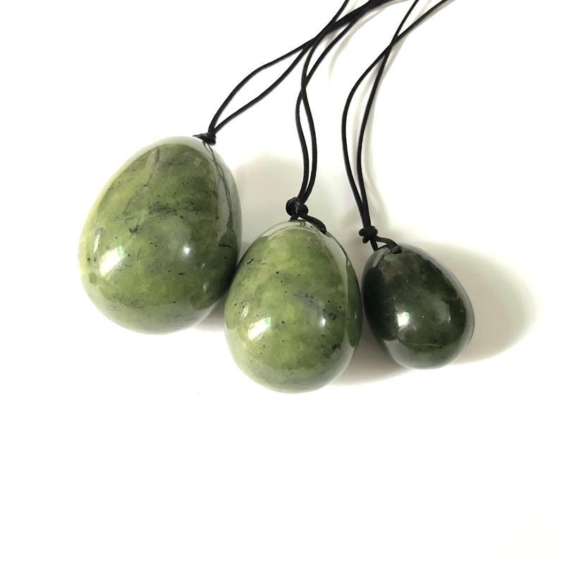 Yoni Ei, Natur Nephrit Serpentine Eier Poliert Chlorophane Massage Chakra Healing Reiki Steinei 30mm 40m 50mm