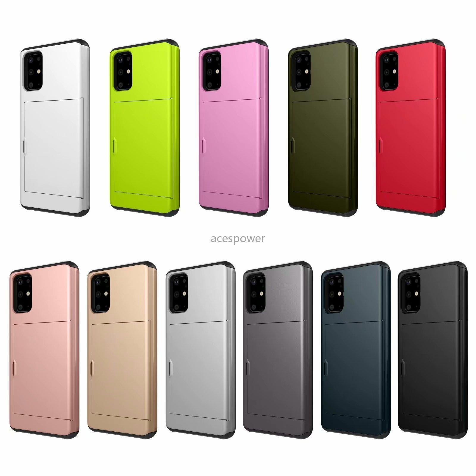 Casos de carteira para iPhone 12 mini 11 pro xs max samsung s20 plus casos fino cartão slot de cartão de slot protetor capa traseira híbrida