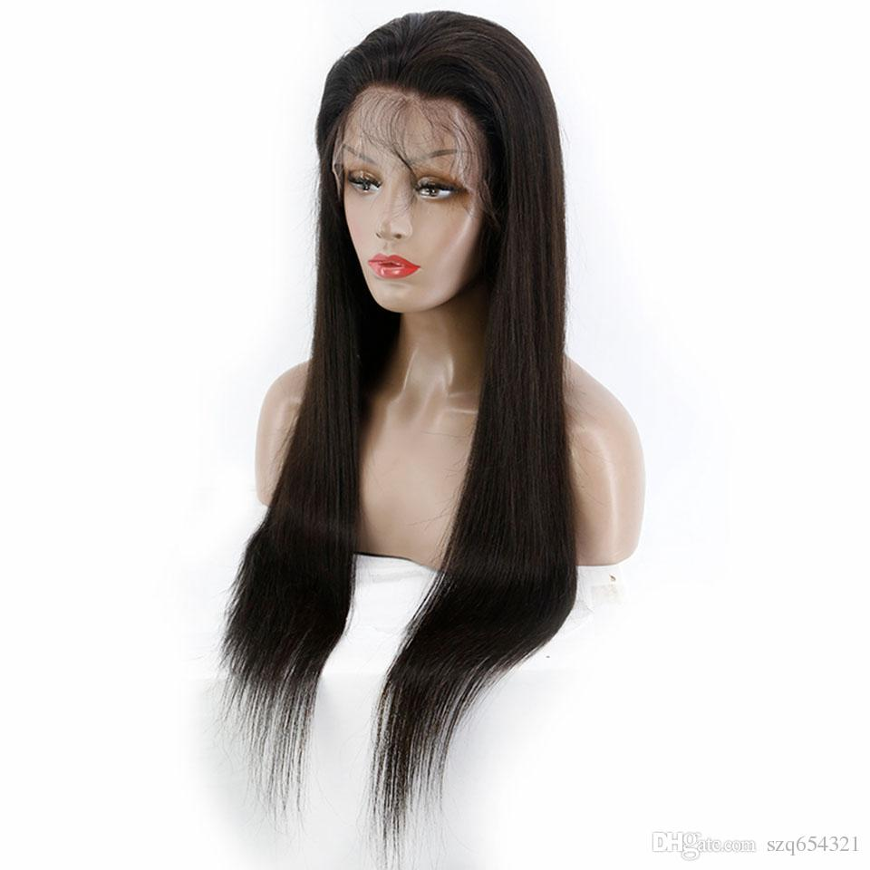 Brazilian Straight 13*4 Lace Front Human Hair Wigs Remy Human Hair Wigs For Black Women 24inch High Density 150
