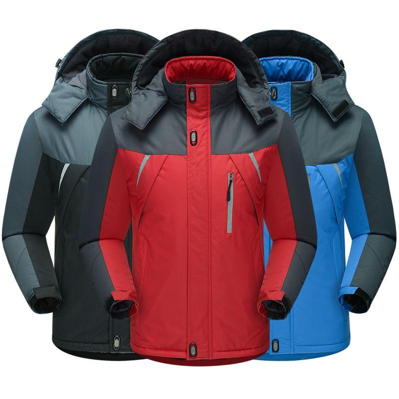 Outdoor Outono E Homens Winter além de veludo Raincoat Jacket ao ar livre Montanhismo revestimento roupa à prova de vento impermeável Quente 888