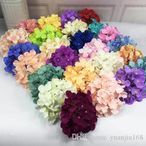 16cm Simulation de hortensias faux 25 couleurs décoratives fleurs artificielles famille / mariage / fleur décoration murale fleurs placées GB1246