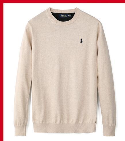 O94M OL4 новый высококачественный пуловер сплошной цвет свитер q1 мужская повседневная Марка свитер тонкий пуловер мужская О-образный воротник мода тенденция маленькая лошадь