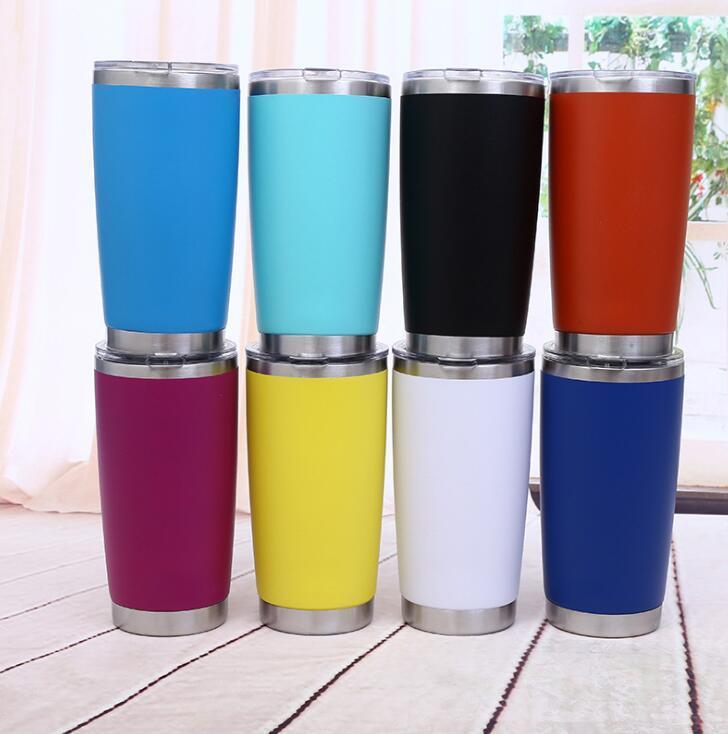 600ml 20oz caneca de aço inoxidável 10 cores isoladas garrafa de água cerveja copos de café ao ar livre esportes de viagem canecas drinkware OOA6750