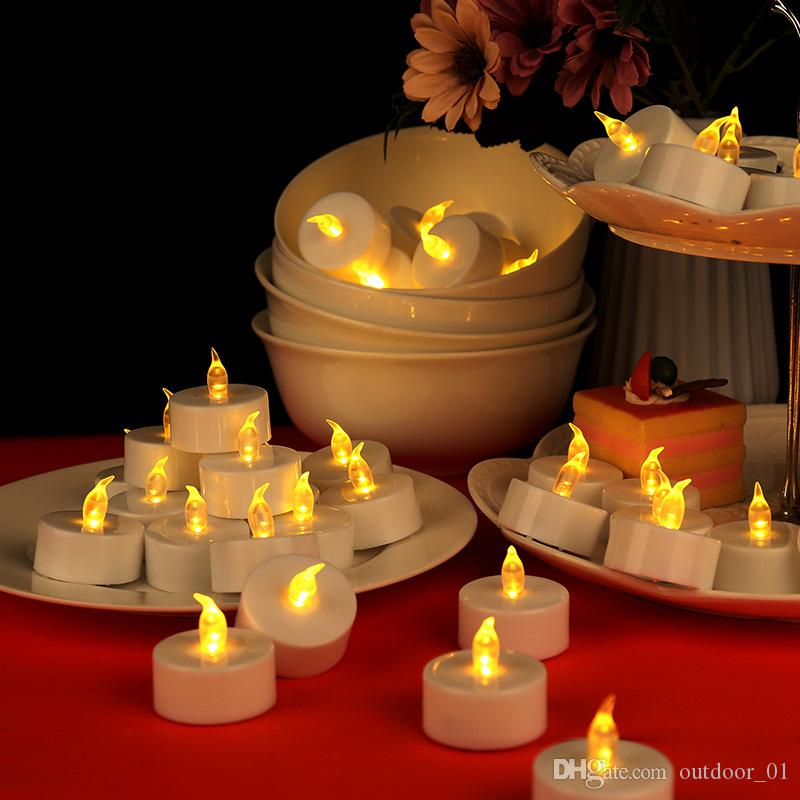 2019 Lover love confession candle led white electronic tea wax Halloween costume outdoor lamp factory wholesale