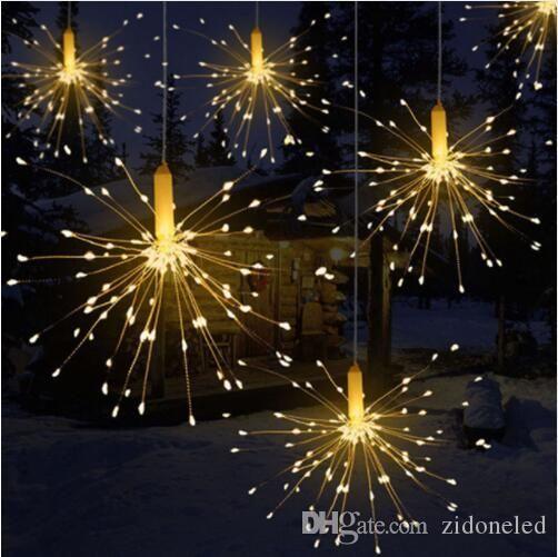DIY открытый водонепроницаемый рождественские светодиодные огни Фейерверк Управляемые декоративные фея для гирлянды патио свадьба