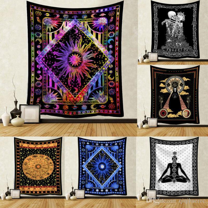95 x 73 cm Mandala tapisserie Tenture Macrame mur Tissu tapisseries psychédéliques tapisserie murale Mandala Tapis