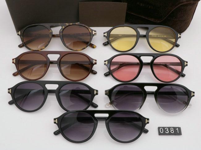 2019 Yeni yuvarlak Güneş Gözlüğü Erkek Kadın Gözlük tom Moda Tasarımcısı Kare Güneş Gözlükleri UV400 ford Lensler Eğilim Güneş Gözlüğü Ile TF0381 kutusu