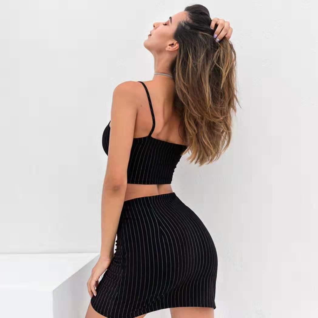 2019 latest casual ladies fashion party cocktail dress ladies summer print stripe dress sexy little spice style