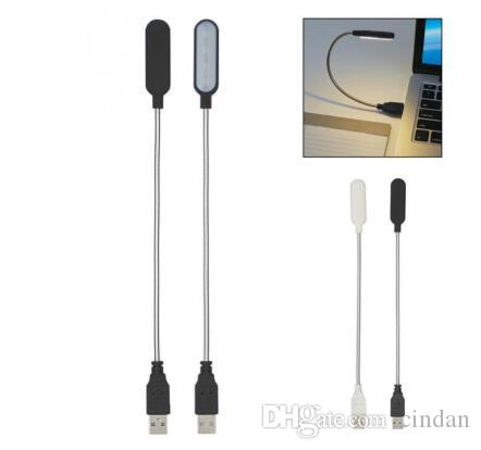 4 led Reading Lamp USB LED Book Light Portable Flexible 4 LED USB Light For Laptop Notebook PC Computer Emergency LEDsLighting