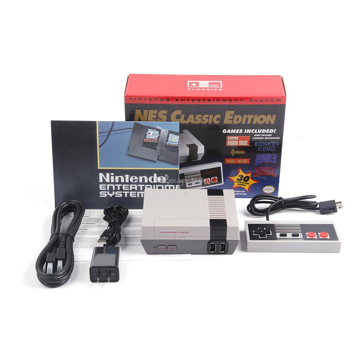 NEW WII Classic Game TV Video Handheld Console Entertainment System Games For 30 Edition Model NES Mini Game Consoles free DHL