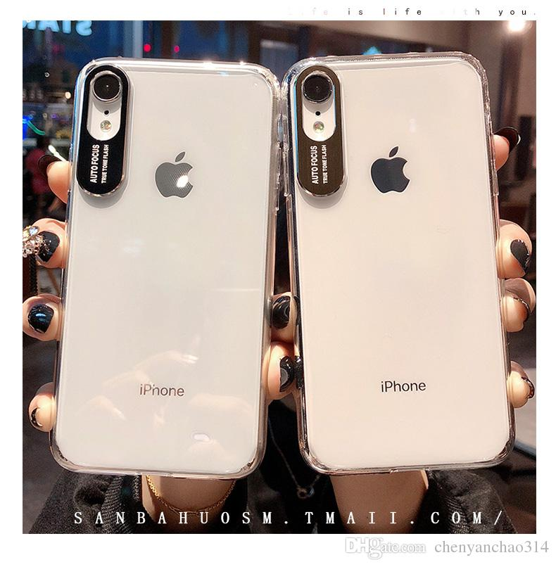 Custodia in acrilico antiurto CaseMe per iPhone X XS Custodia in metallo trasparente per XR XR XS per iPhone 6s 6 7 8 Plus