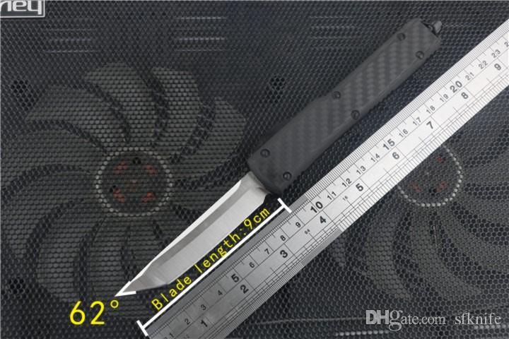 14 스타일 자동 칼 복동 탄소 섬유 전술 나이프 접는 칼, 고품질 VG10 강철 탄소 섬유 자동차 칼