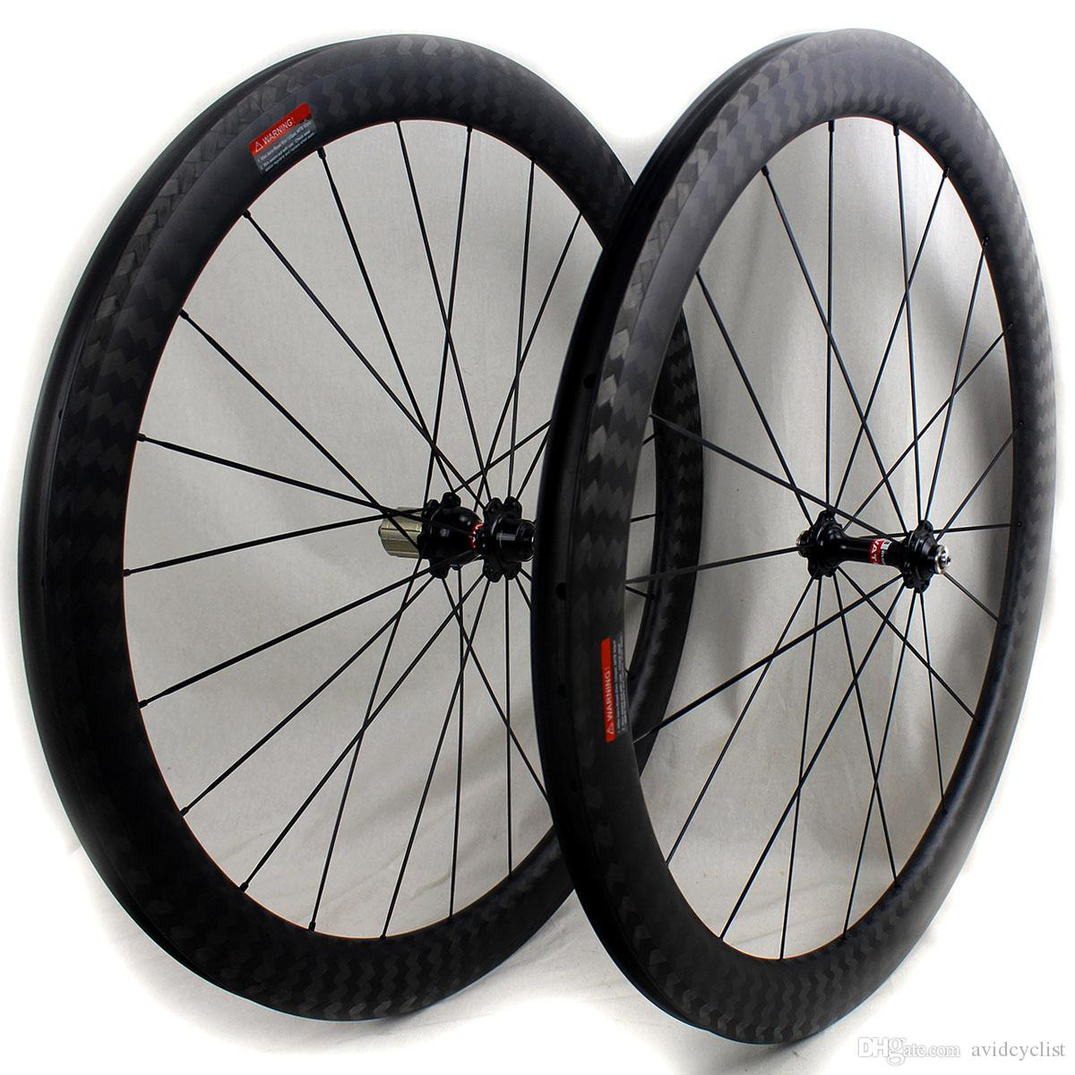 12K carbon fiber bike road wheels 50mm 700C basalt brake surface clincher tubular road bicycle racing wheelset rim width 25mm matt