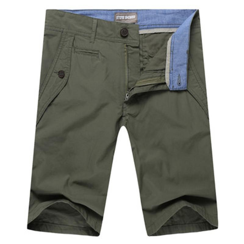 Sommer 2020 Männer Baumwollshorts knielangen kurze Hosen-Hose-Qualitäts-Bermudas Plus Size