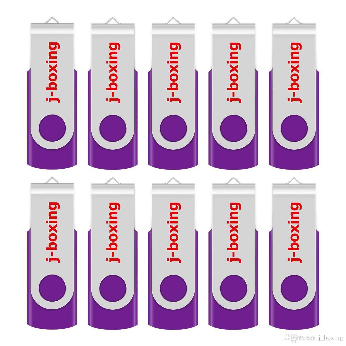 Purple Bulk 10PCS Metal Rotating USB 2.0 Flash Drive Pen Drive Thumb Memory Stick 64M 128M 256M 512M 1G 2G 4G 8G 16G 32G for PC Laptop Mac