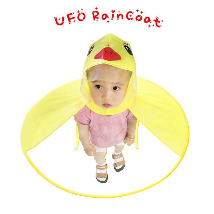 Ufo детских Дождевики Симпатичный желтый уток дождевик Водонепроницаемый Для детей Зонтика Cover Girl Boy дождевик ребенок пончо Плащ xYhgI