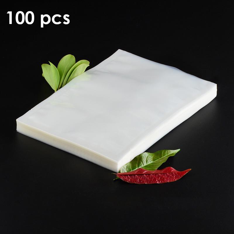 100 Pçs / lote Sacos De Vácuo De Alimentos Sacos De Armazenamento De Alimentos Para Aferidor Do Vácuo Máquina De Vedação 15 cm 25 cm 28 cm