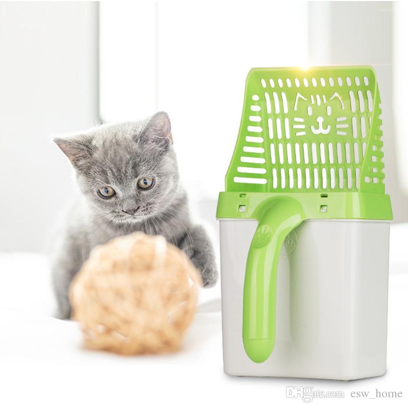 Útil da maca do gato pá pet ferramenta de limpeza de plástico scoop cat areia produtos de limpeza higiênico para colheres de comida de cachorro colher de lixo