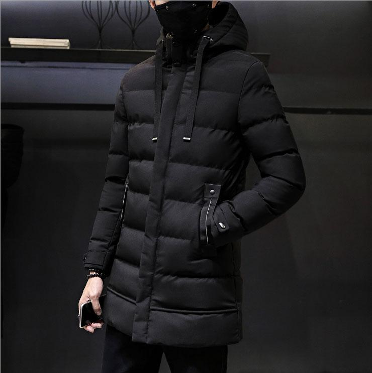 Men Winter Jacket Gray Black Long Style Parka Coat For Men Hooded Thick Cotton-Padded Jacket Mens Parka Coat Male Fashion Casual Coats 4XL