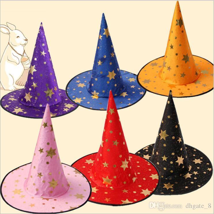 Halloween Cap Partido Witch Cosplay Prop Para Costumes Festival Fancy Dress Crianças Witch Assistente Vestido Chapéus traje crianças chapéu YZ253