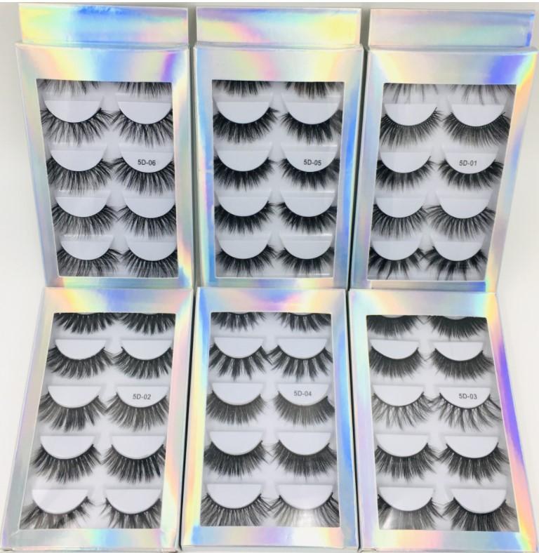 Бесплатная доставка EPACKET HOT 5 Пары 5D False Reelashes Натуральные толстые синтетические ресницы для глаз макияж ручной работы поддельные крестные ложные ресницы!