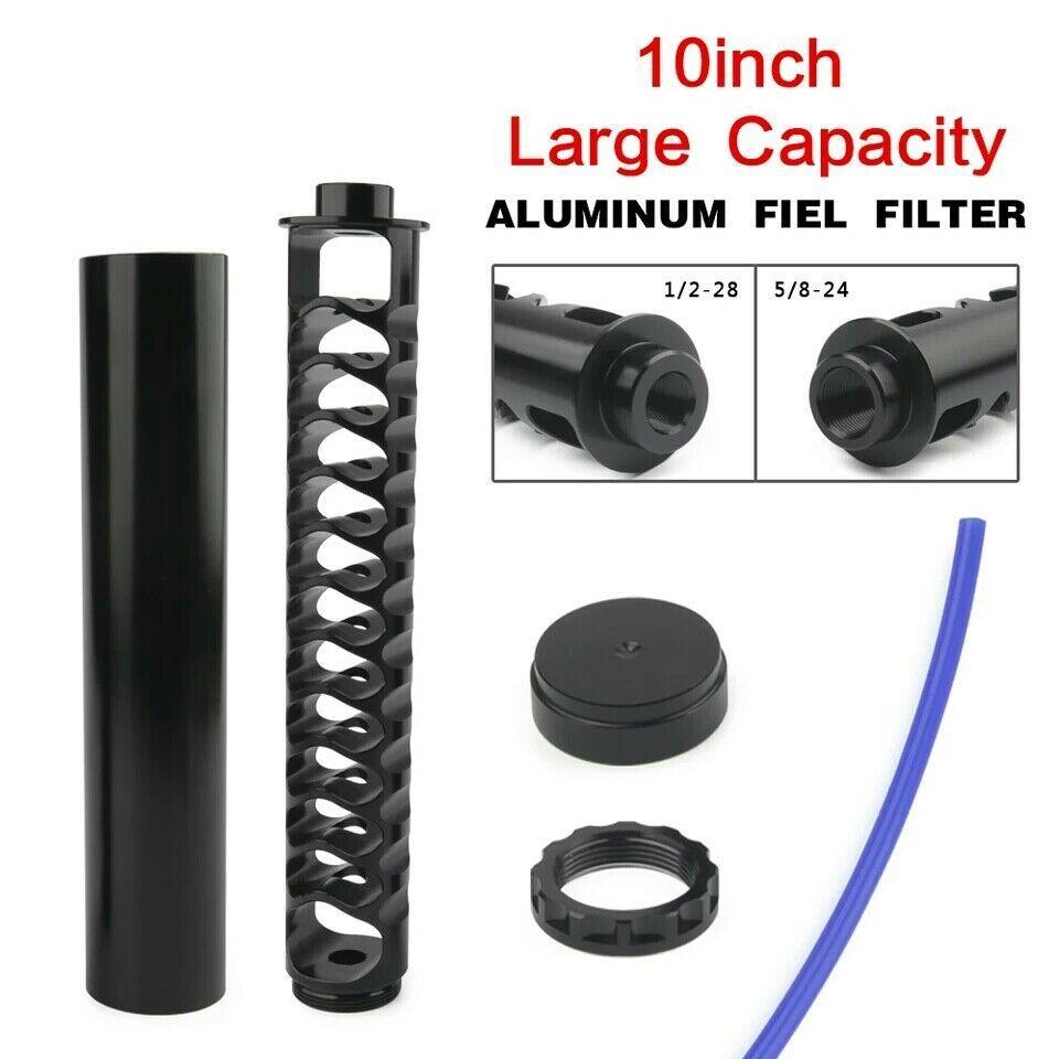10 Zoll Larg Verlängerung Spirale 1/2-28 oder 5/8-24 Legierung Kraftstofffilter Single Core Für NaPa 4003 WIX 24003 Lösungsmittel Motorrad