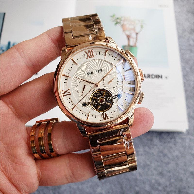 2019 Yüksek Kaliteli Üst Marka erkekler Tüm alt kadranları çalışma lüks saat Ay Daydate mekanik otomatik wristwatche erkek hediye rejoles saatler