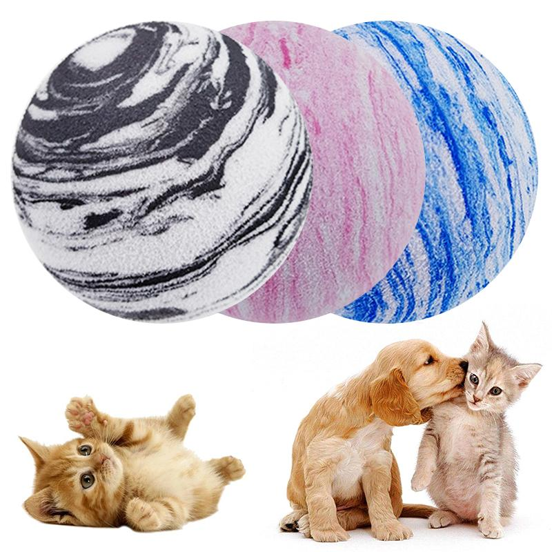 1Pc Rainbow Planet Toy Ball Pet Dog Cat Ball Toy EVA Planet Texture Pet Balls Cat Toys Interactive Toy Training Pet Supplies
