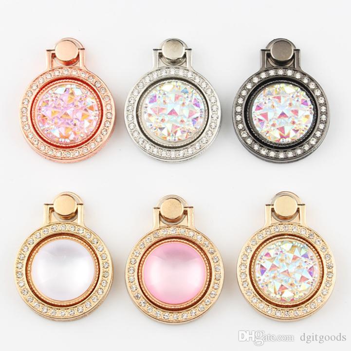 Diamant Bling Telefon-Bracket-Finger-Ring-Metallhalter-Handy-Standplatz-Halter für iphone 7 8 x xr xs Samsung Adnroid