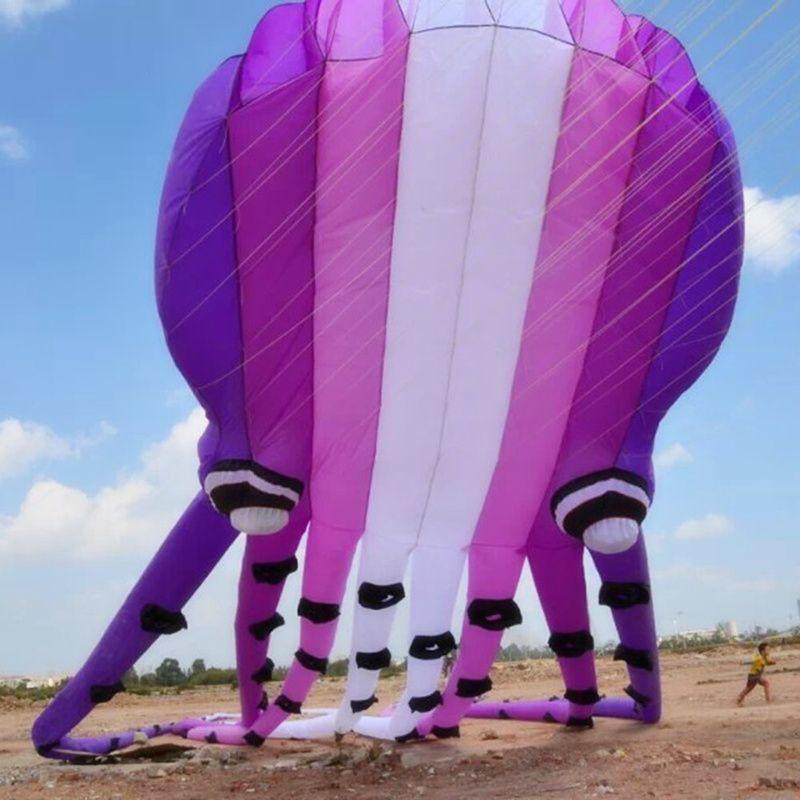 15m 23m 30m Grand Cerf-volant Octopus souple gonflable Cerf-volant animal adulte Sports de plein air Outil volant Fun
