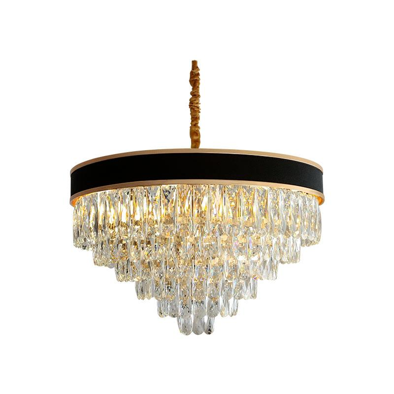 multi couches de lustre en cristal moderne pour le salon AC110V 220V lustre LED cristal Kronleuchter dinning lustres en salle