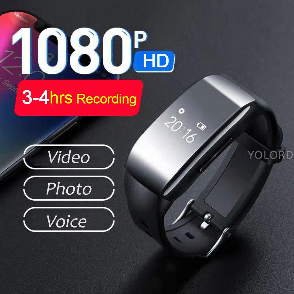 Cámara de alta calidad Cam grabadora de voz video de la pluma del reloj de grabación Cam pulsera inteligente Banda