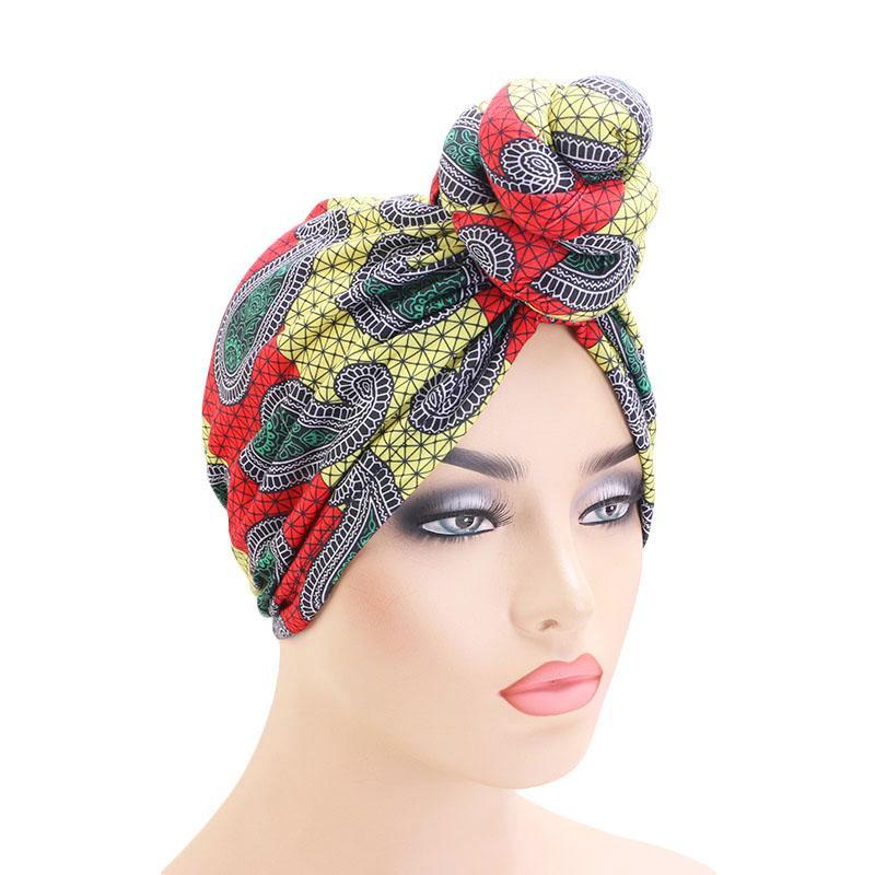 Мода Африканская голова галстук тюрбан бандана шапка платок головная повязка цветок тюрбан элегантный химиотерапия Шапочка шапка аксессуары для волос