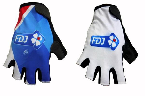 2015 FDJ Pro Team 2 ЦВЕТА One Pair Спорт Половина Finger Велоспорт Джерси Перчатки MTB-роуд Горный велосипед Гелевые перчатки велосипедов