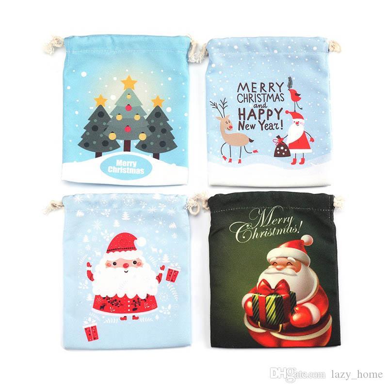 Weihnachtsgeschenk-Tasche Tasche Sankt-Sack-Beutel der mit Rentieren Weihnachtsmann-Sack-Beutel für Kind-Süßigkeit-Geschenk-Organisator-Beutel