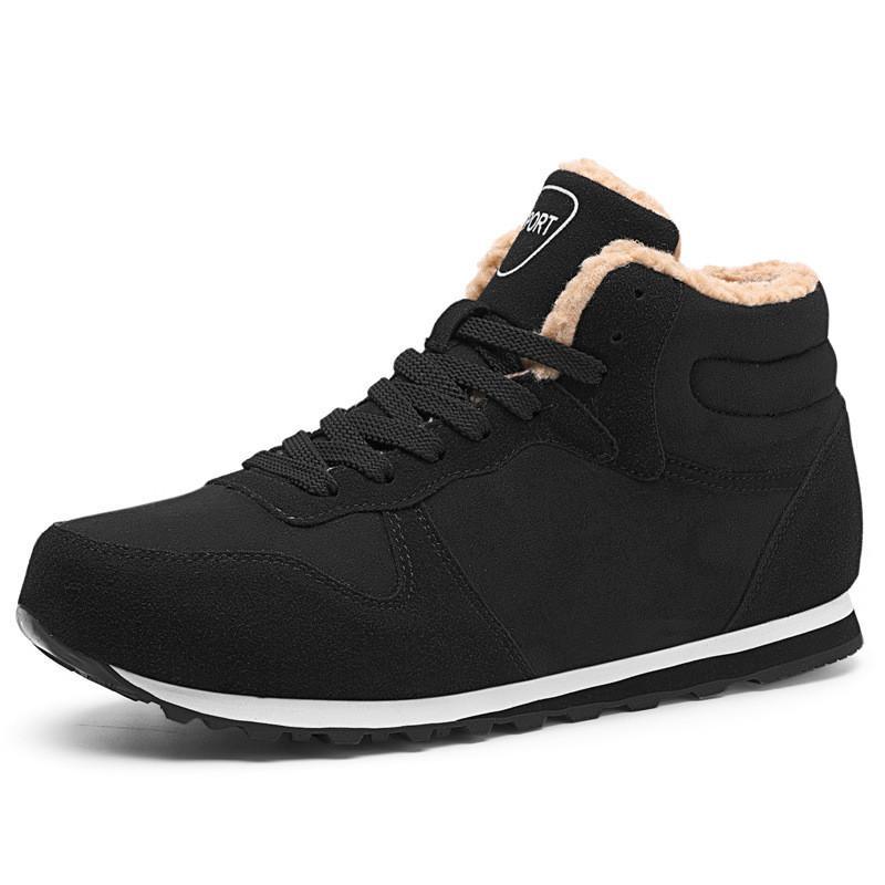 Botas de Neve de natal Sapatos de Inverno Homens Moda Ao Ar Livre Sapatos de Algodão Quente Anti-skid Flats Zapatos De Hombre Botas Homens Plus Size
