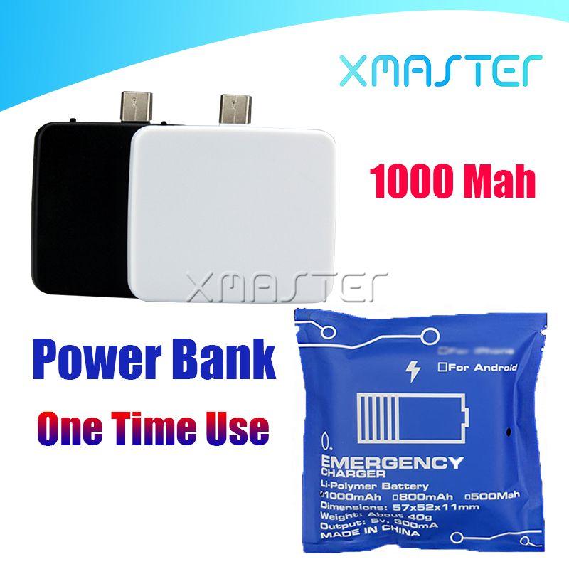 Mini Power Bank One Time Use ricarica portatile tesoro per Universal Mobile emergenza del telefono portatile Powerbank Batteria per il telefono Android