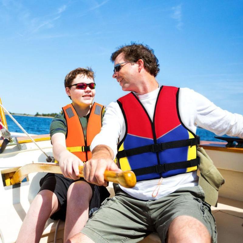 Erwachsene / Kinder Schwimmweste Weste Badehosen Schwimmwesten Jacken für Wassersport Man Jacke Schwimmen Bootfahren Driften