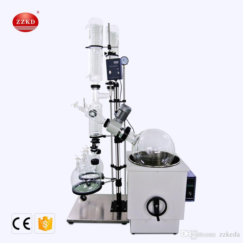 ZZKD Nova 50L Rotary evaporador condensador duplo duplo de recepção garrafa Rotating evaporador Aparelho