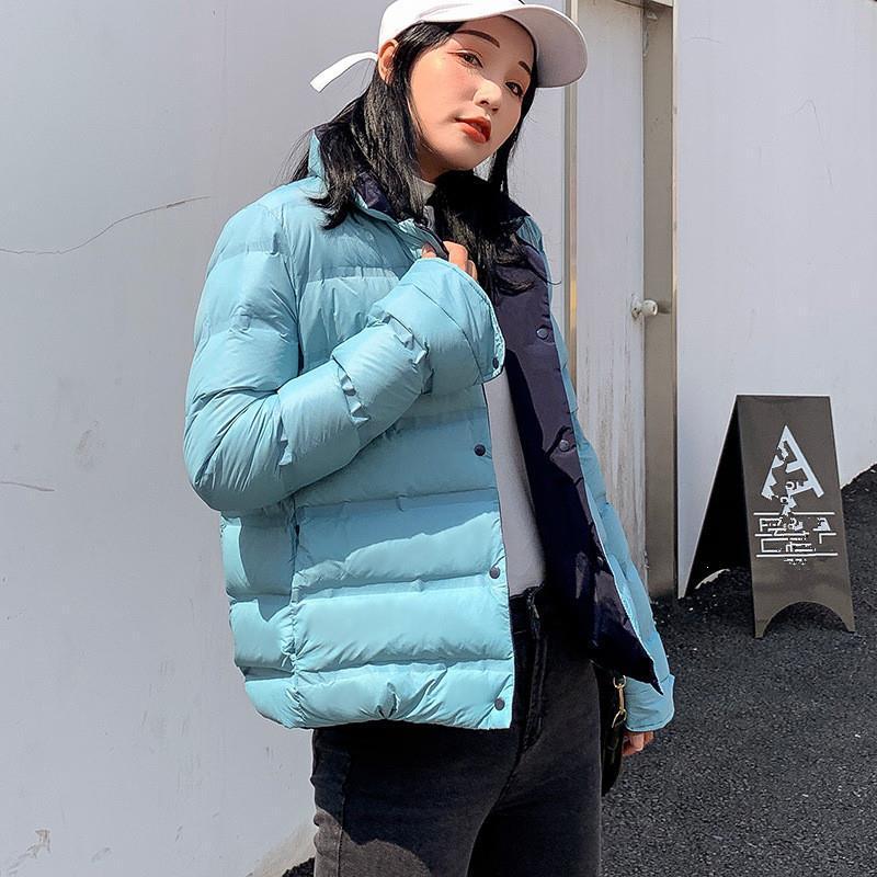 Desgaste do inverno Double-Sided Luz para baixo acolchoado Jacket Brasão Mulheres grossa acolchoado Pato Branco Casacos