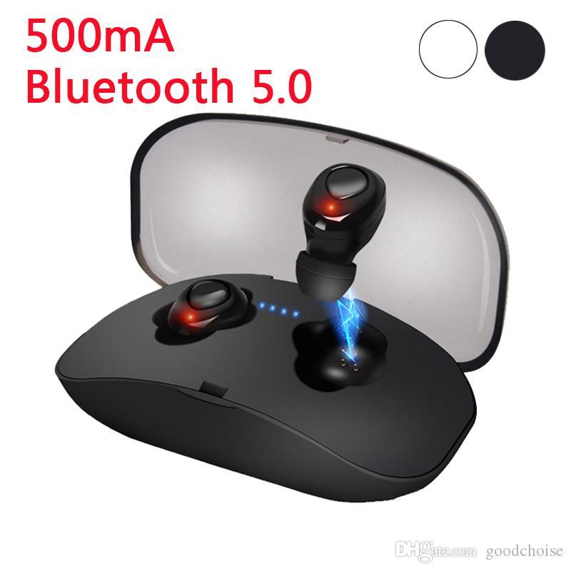 X18 TWS Invisible Mini Earbuds Sem Fio Bluetooth Fone de Ouvido 3D Stereo Handsfree Redução de Ruído Bluetooth 5.0 fone de Ouvido para smartphones